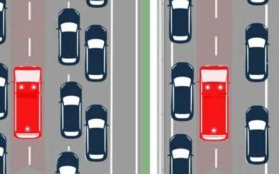 Reddingsstrook impliceert geen inhaalverbod voor vrachtwagens