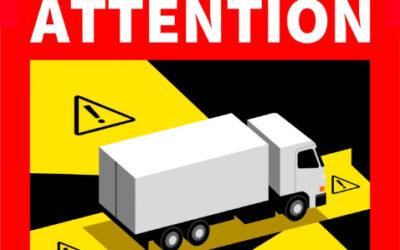 Signalisation d'angle mort obligatoire en France pour les véhicules d'un GVW de + 3,5 tonnes